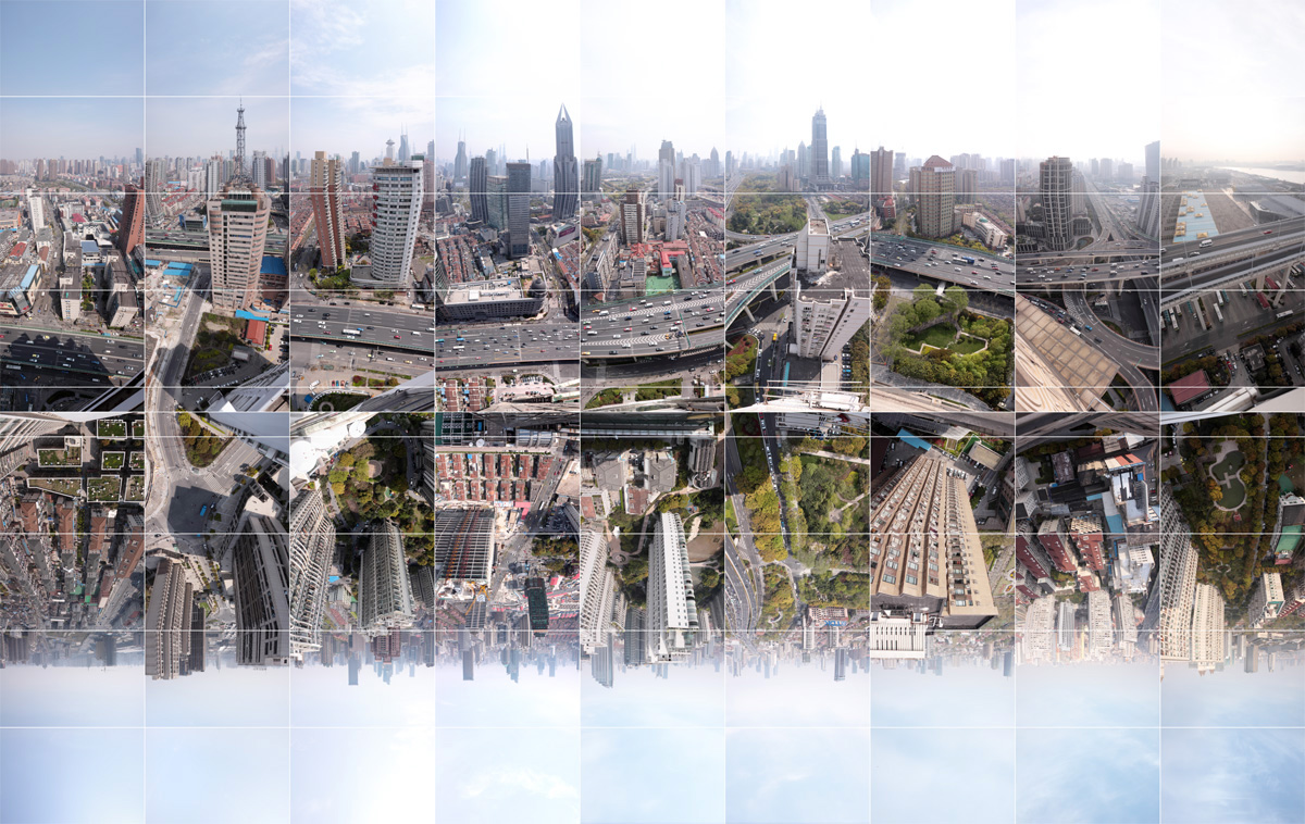 image, picture, Shanghai - Timespace – following the North-South Elevated Highway, Road, urban explorer, panorama of skyline of Shanghai