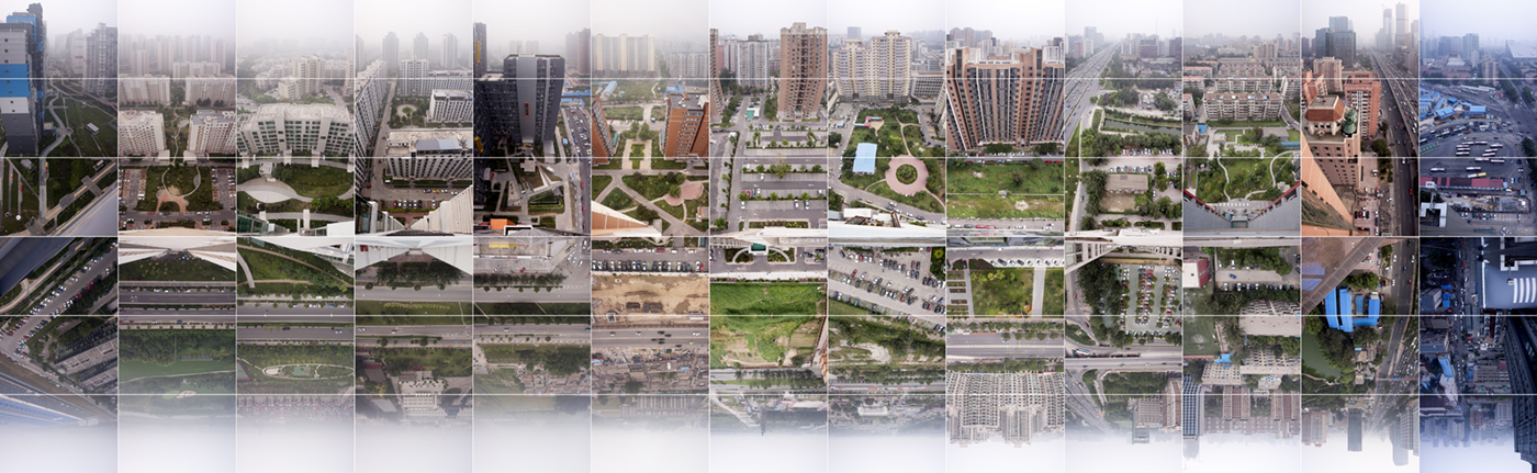 Beijing- Timespace - from east to west on  31 - 08 - 12, by urban explorer and photographer artist Wouter van Buuren - photography