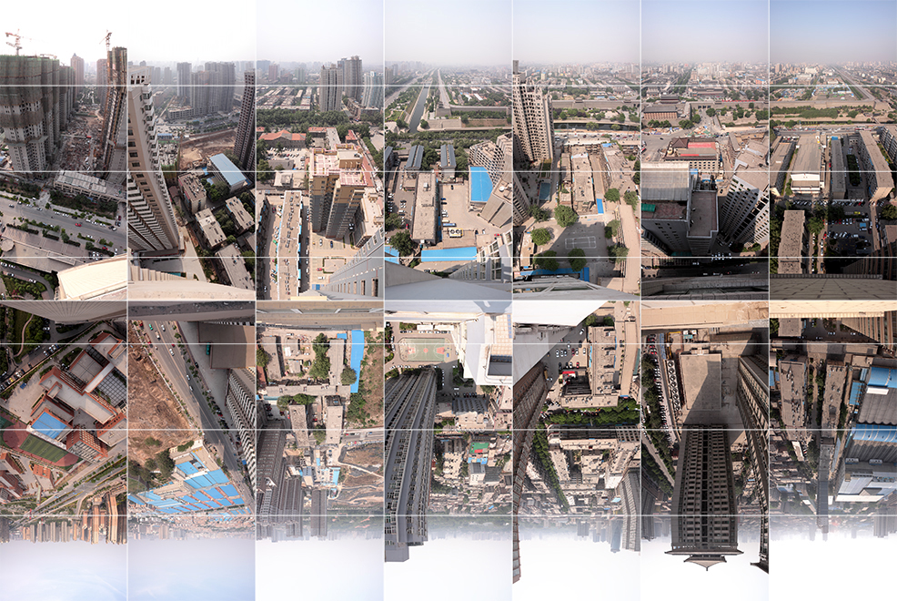Photography - by - Wouter van Buuren - Xian – Timespace – following the East Wall, panorama of the skyline, urban explaration by an urban explorer